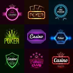 casino poker neon